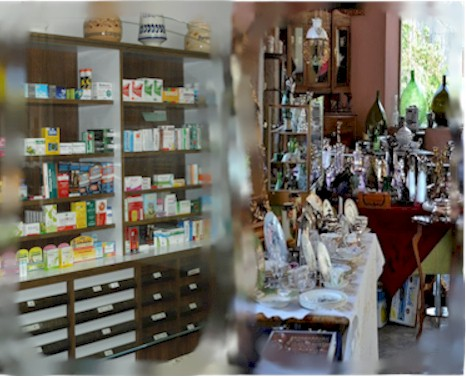 Pharmacy and flea market